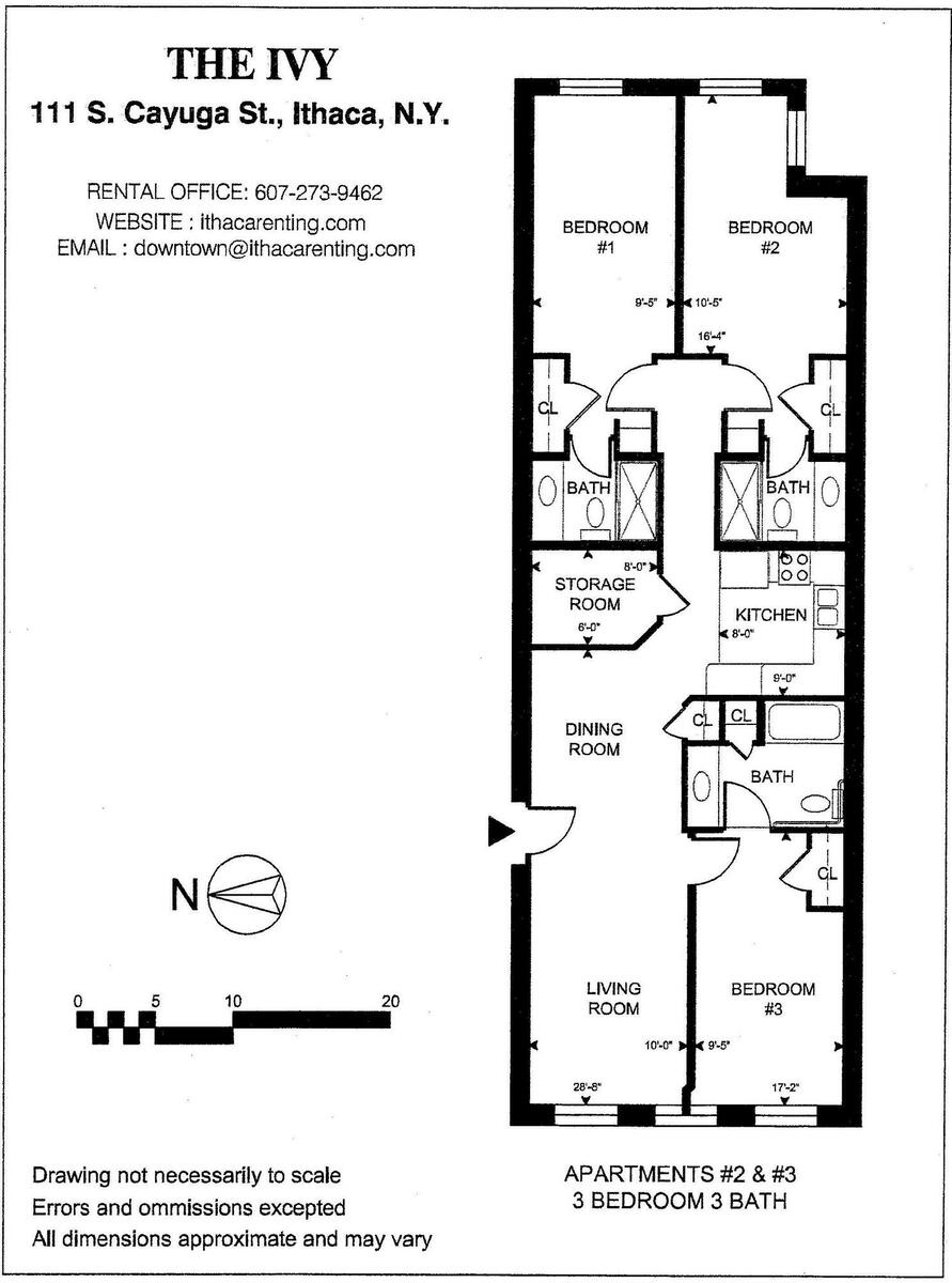 Floor plan, Apt 2 and 3