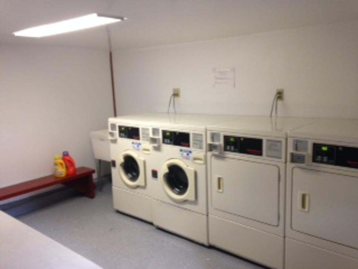 Laundry in building