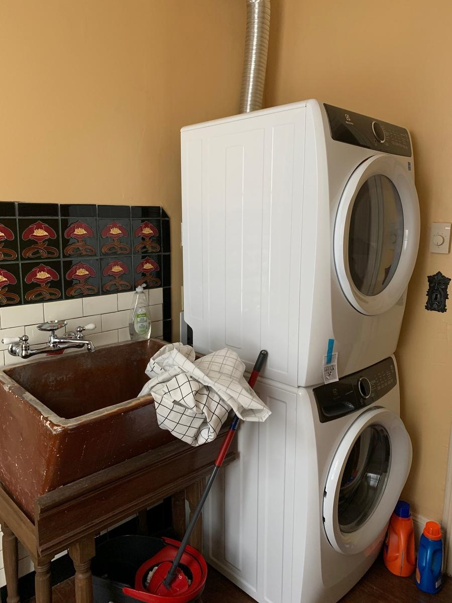 Free family-size Electrolux steam dryer/washer